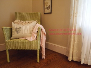 Chair and cozy throw