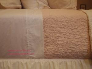 Crisp white cotton sheets